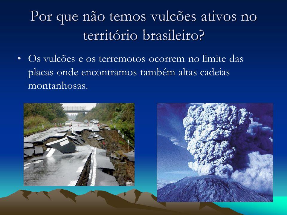 Por que não temos vulcões ativos no território brasileiro