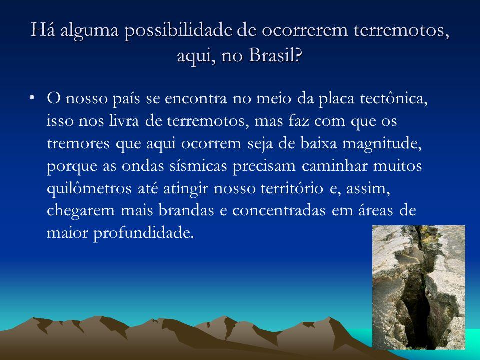 Há alguma possibilidade de ocorrerem terremotos, aqui, no Brasil