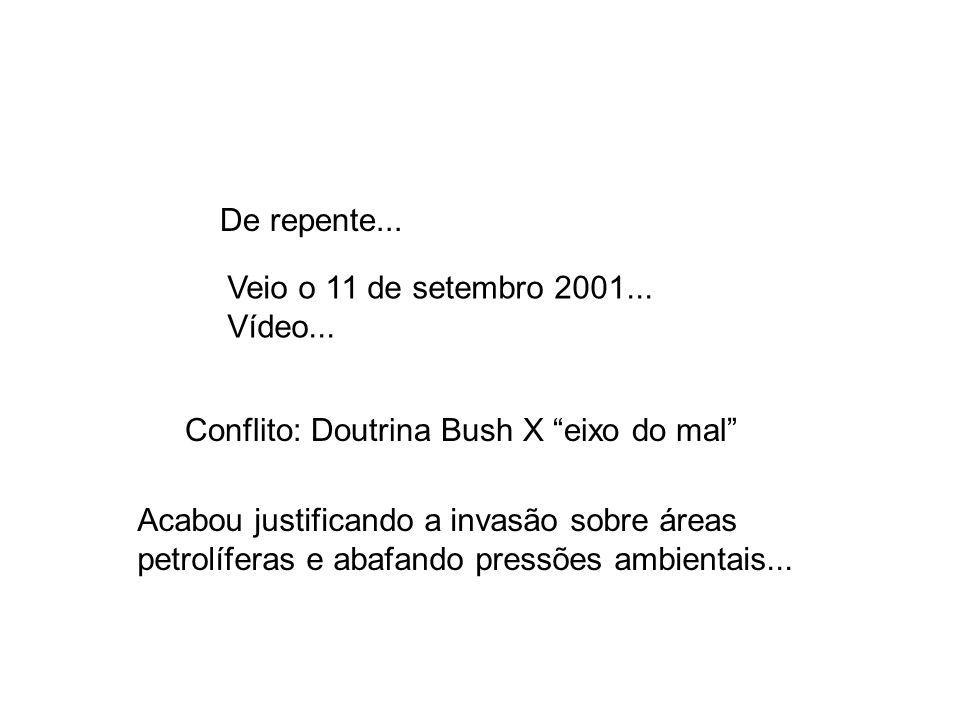 Conflito: Doutrina Bush X eixo do mal