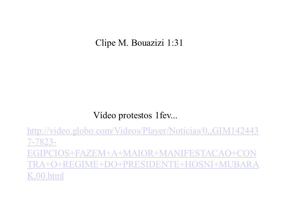 Clipe M. Bouazizi 1:31 Vídeo protestos 1fev...