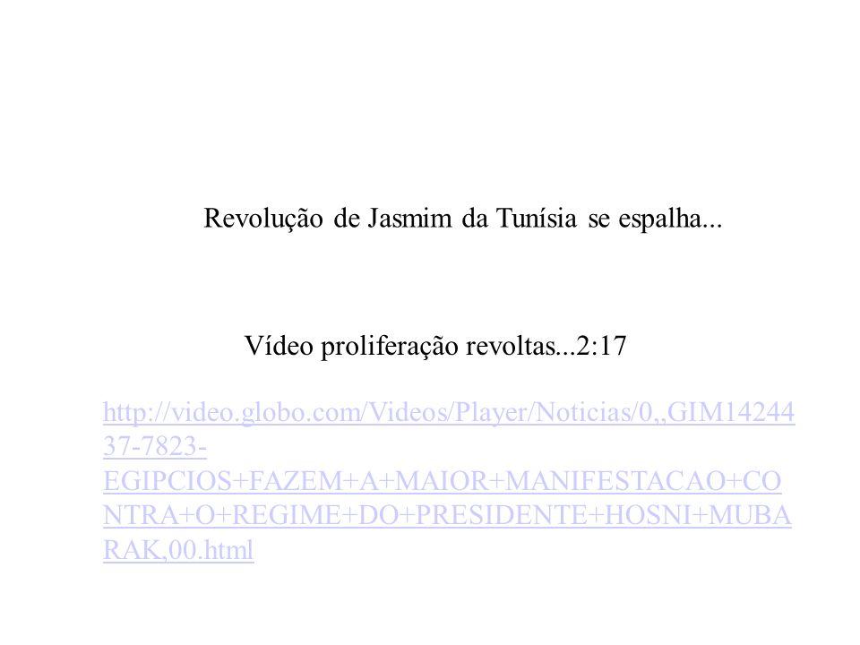 Revolução de Jasmim da Tunísia se espalha...