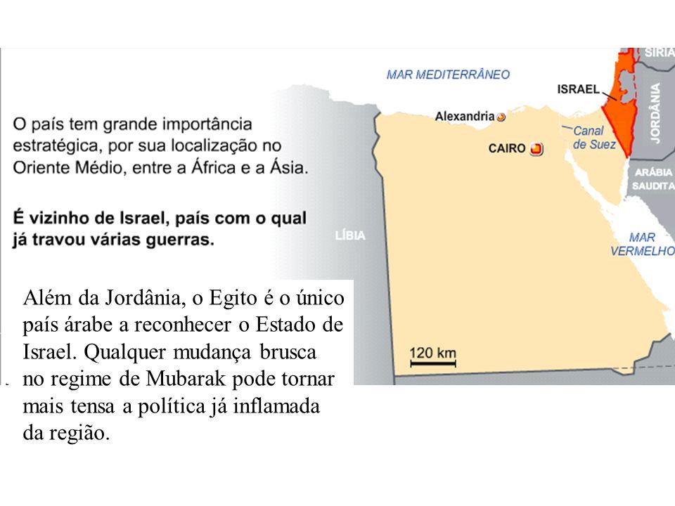 Além da Jordânia, o Egito é o único país árabe a reconhecer o Estado de Israel.