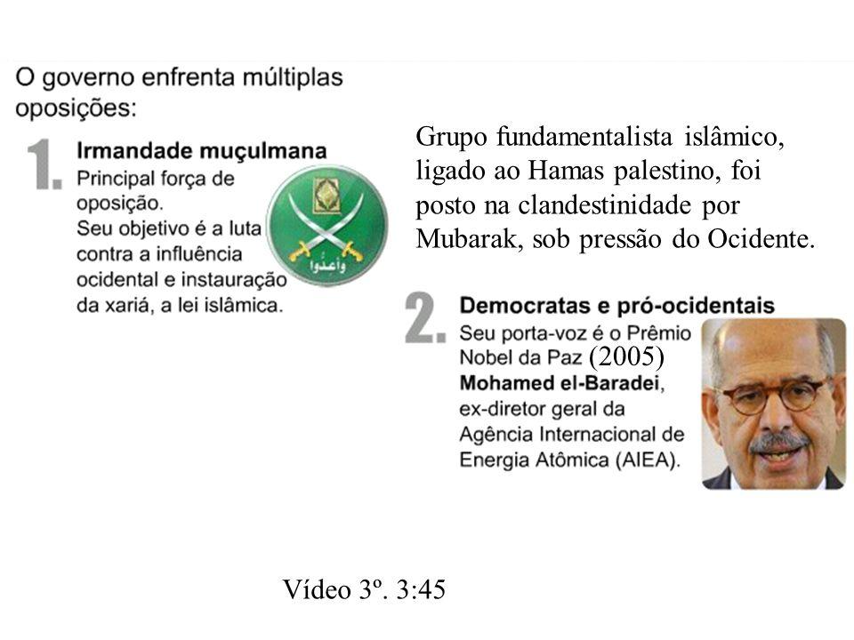 Grupo fundamentalista islâmico, ligado ao Hamas palestino, foi posto na clandestinidade por Mubarak, sob pressão do Ocidente.