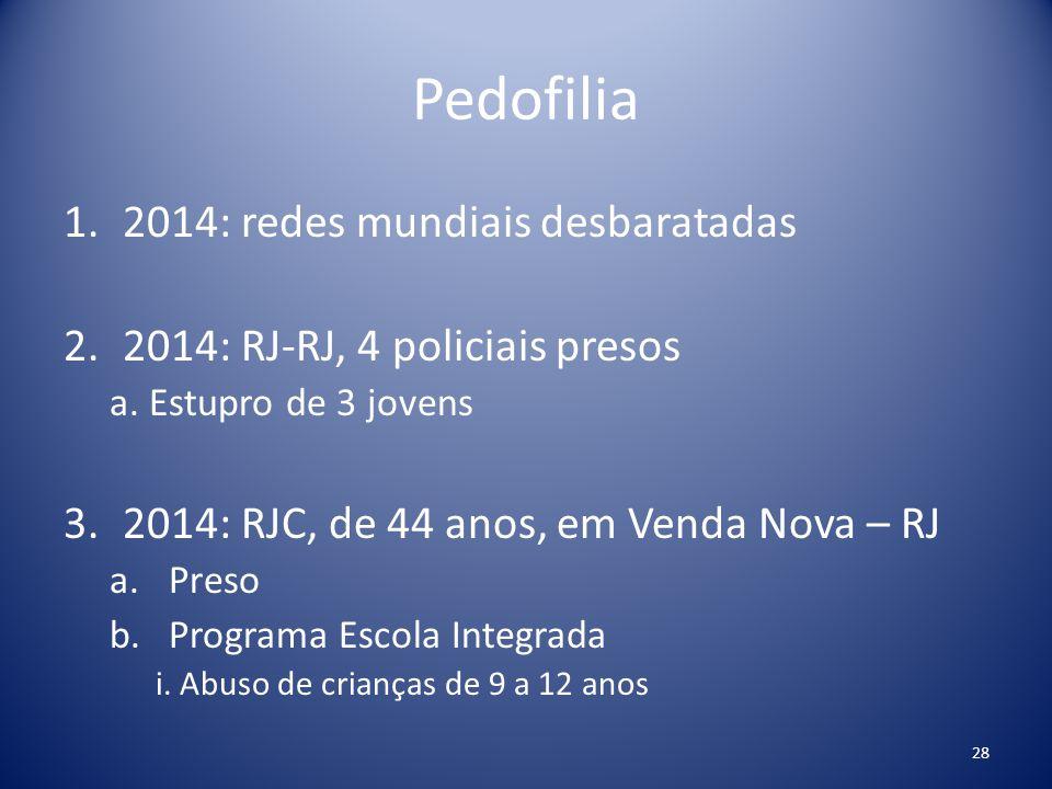 Pedofilia 2014: redes mundiais desbaratadas