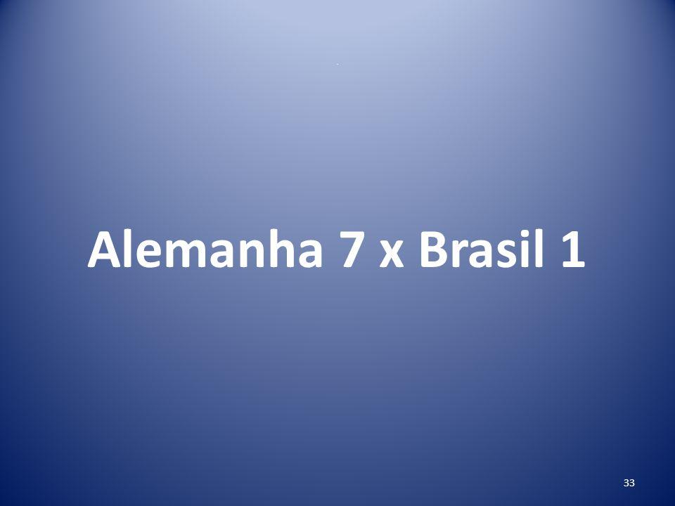 . Alemanha 7 x Brasil 1
