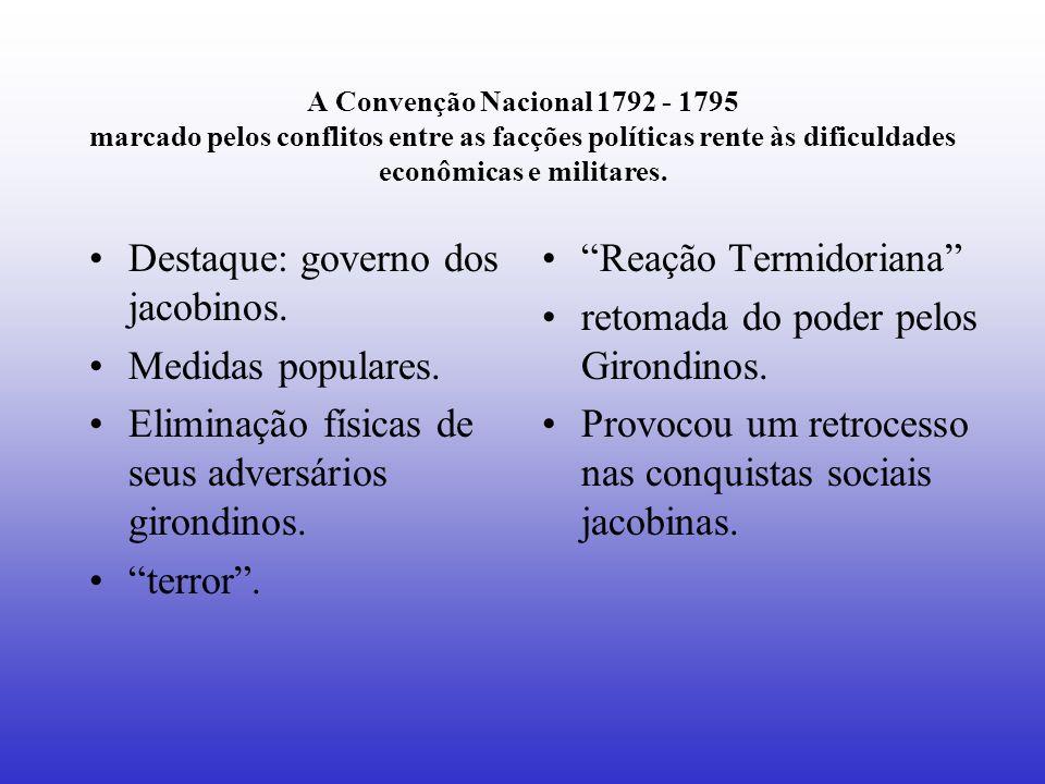 Destaque: governo dos jacobinos. Medidas populares.