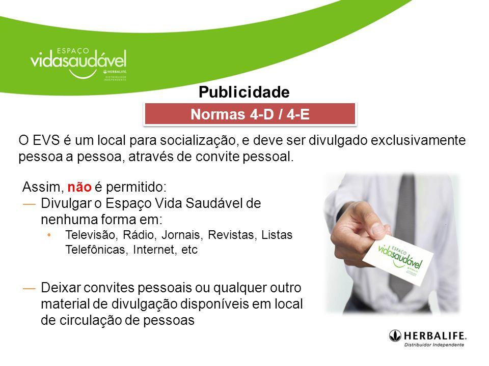 Publicidade Normas 4-D / 4-E