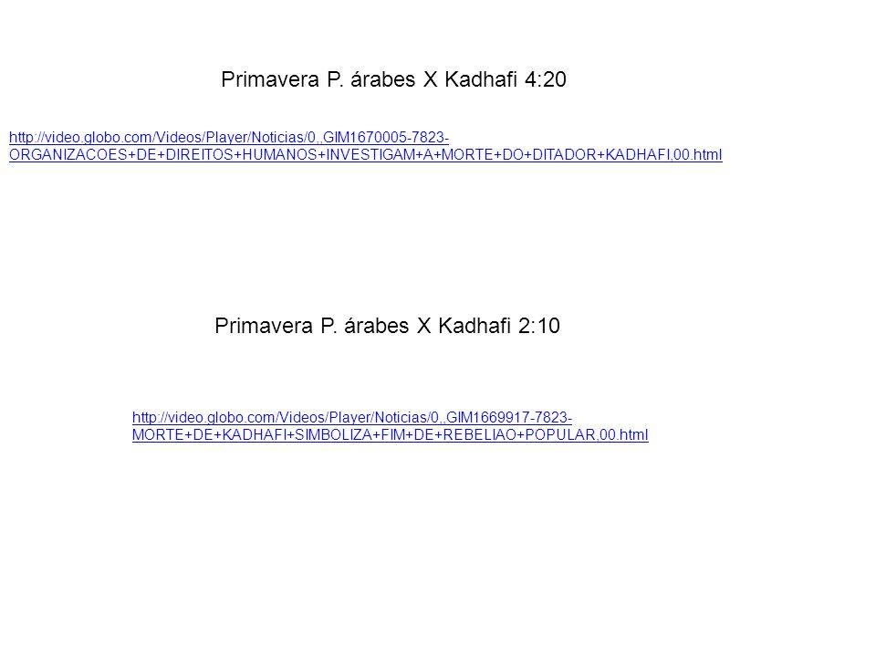 Primavera P. árabes X Kadhafi 4:20