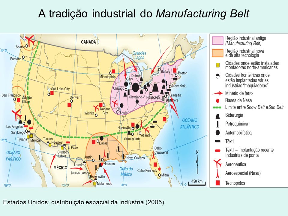A tradição industrial do Manufacturing Belt