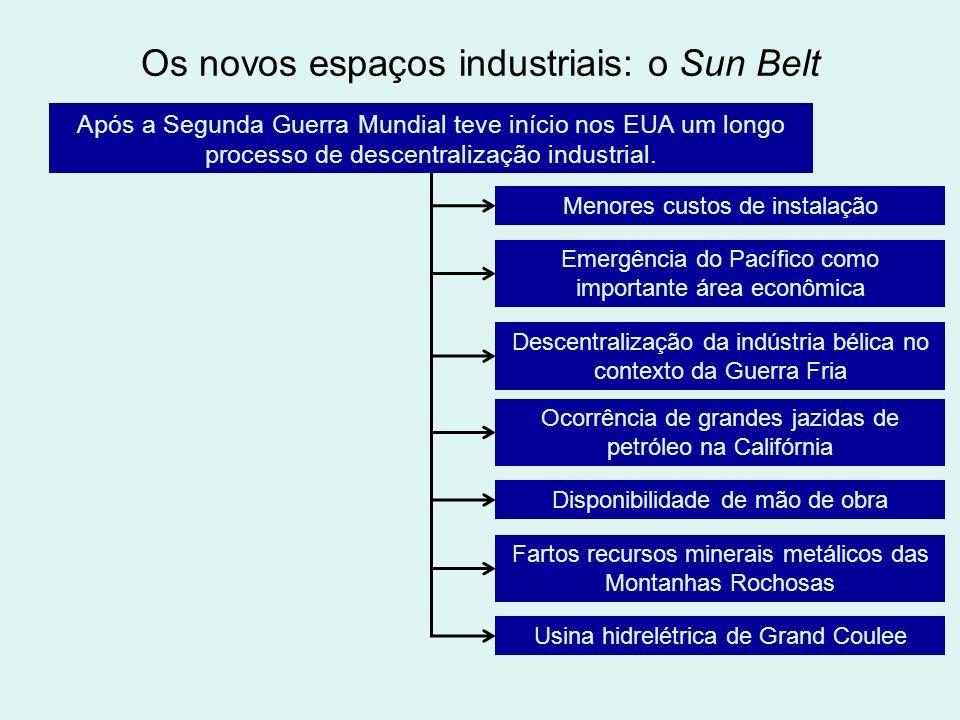 Os novos espaços industriais: o Sun Belt