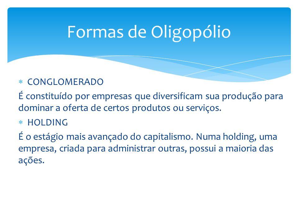 Formas de Oligopólio CONGLOMERADO