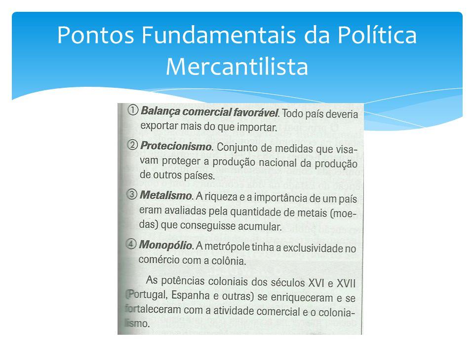 Pontos Fundamentais da Política Mercantilista
