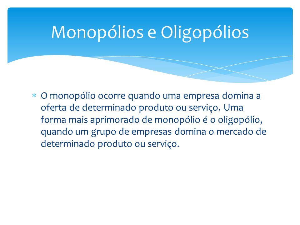 Monopólios e Oligopólios