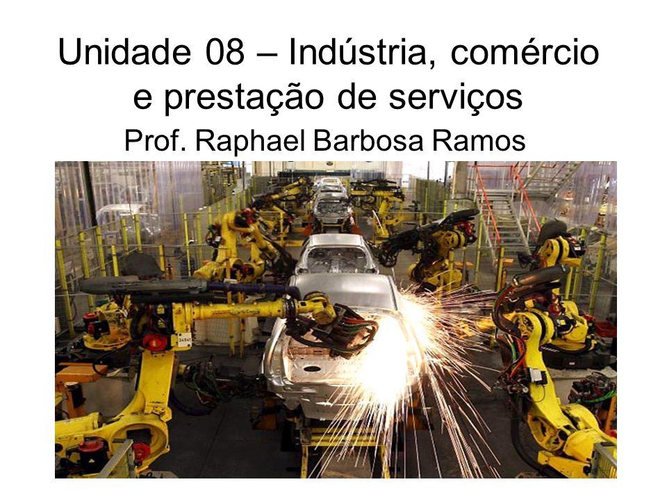 Unidade 08 – Indústria, comércio e prestação de serviços