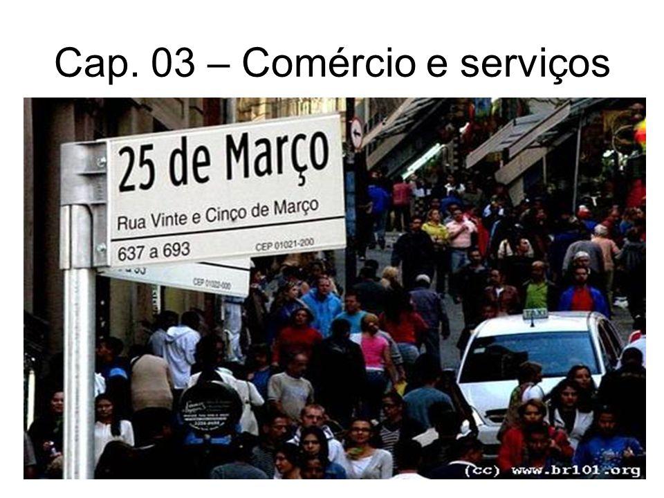 Cap. 03 – Comércio e serviços