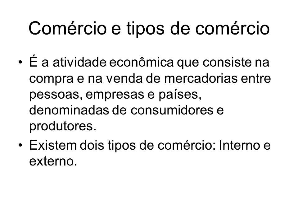 Comércio e tipos de comércio