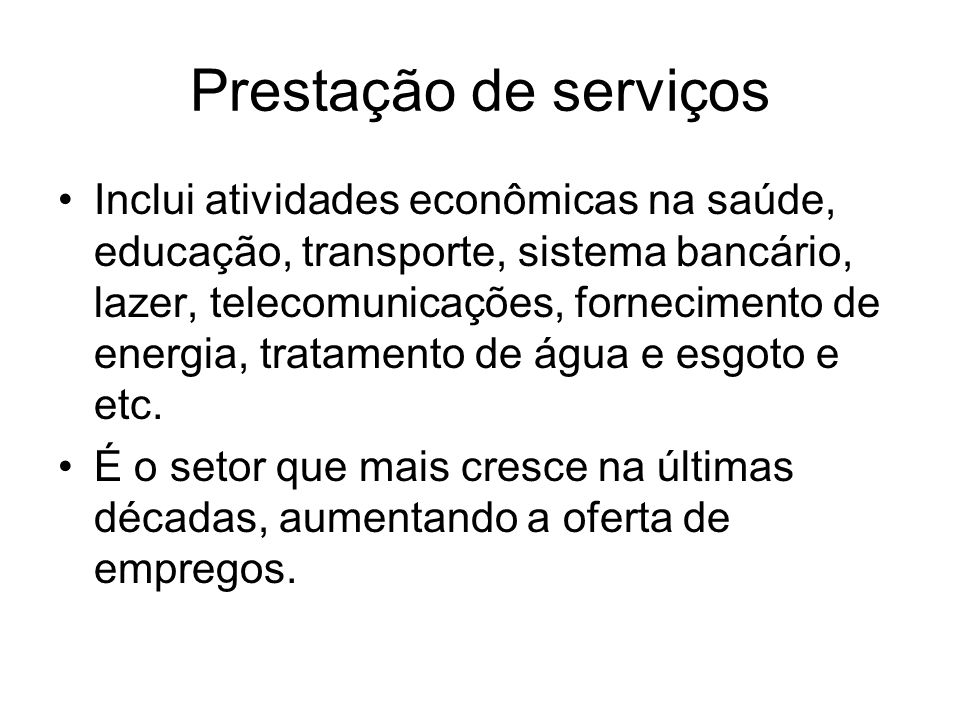 Prestação de serviços