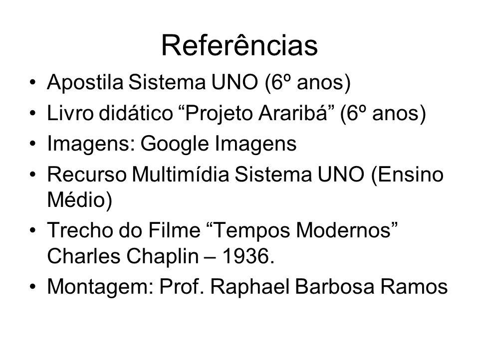 Referências Apostila Sistema UNO (6º anos)