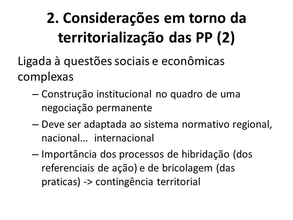 2. Considerações em torno da territorialização das PP (2)