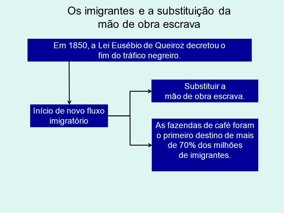 Os imigrantes e a substituição da mão de obra escrava