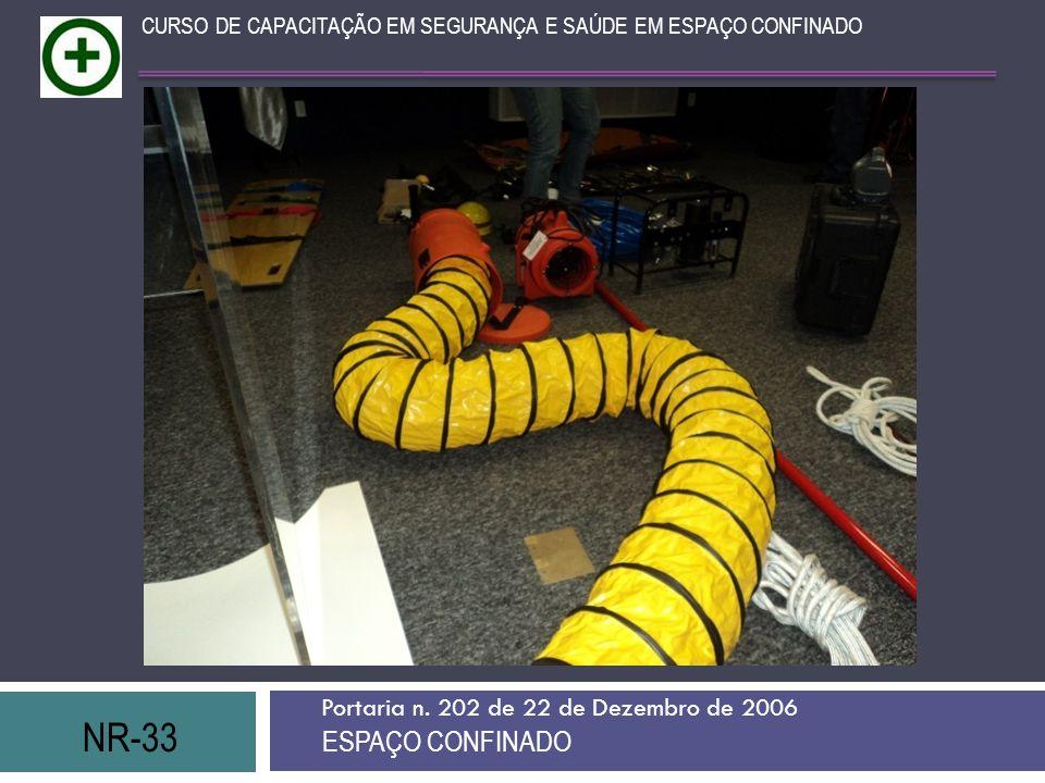NR-33 ESPAÇO CONFINADO Portaria n. 202 de 22 de Dezembro de 2006