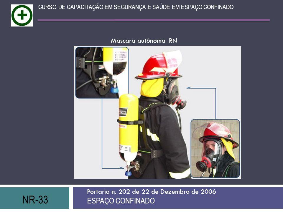 NR-33 ESPAÇO CONFINADO Mascara autônoma RN