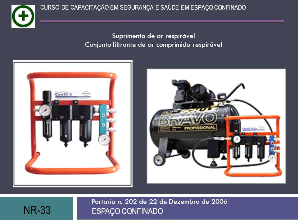 NR-33 ESPAÇO CONFINADO Suprimento de ar respirável