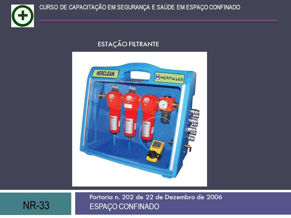 NR-33 ESPAÇO CONFINADO ESTAÇÃO FILTRANTE