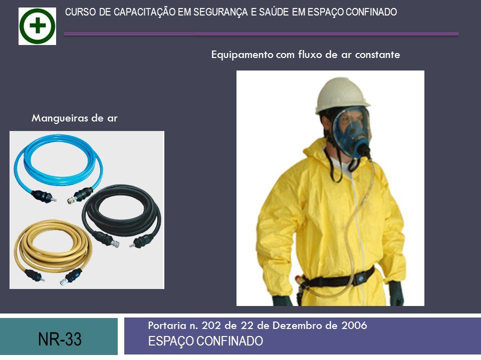 NR-33 ESPAÇO CONFINADO Equipamento com fluxo de ar constante