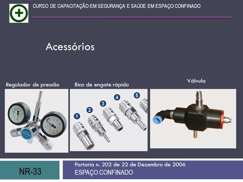 Acessórios NR-33 ESPAÇO CONFINADO Válvula