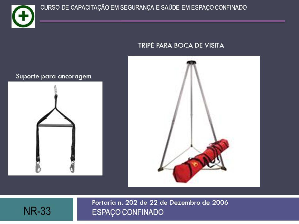 NR-33 ESPAÇO CONFINADO TRIPÉ PARA BOCA DE VISITA