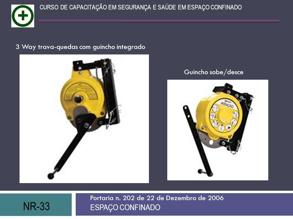 NR-33 ESPAÇO CONFINADO 3 Way trava-quedas com guincho integrado