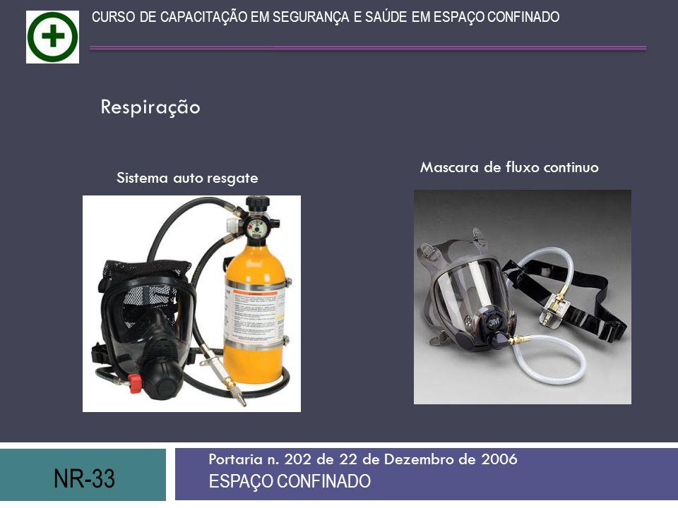 Respiração NR-33 ESPAÇO CONFINADO Mascara de fluxo continuo