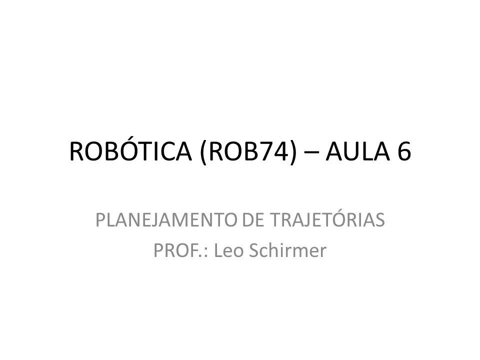 PLANEJAMENTO DE TRAJETÓRIAS PROF.: Leo Schirmer