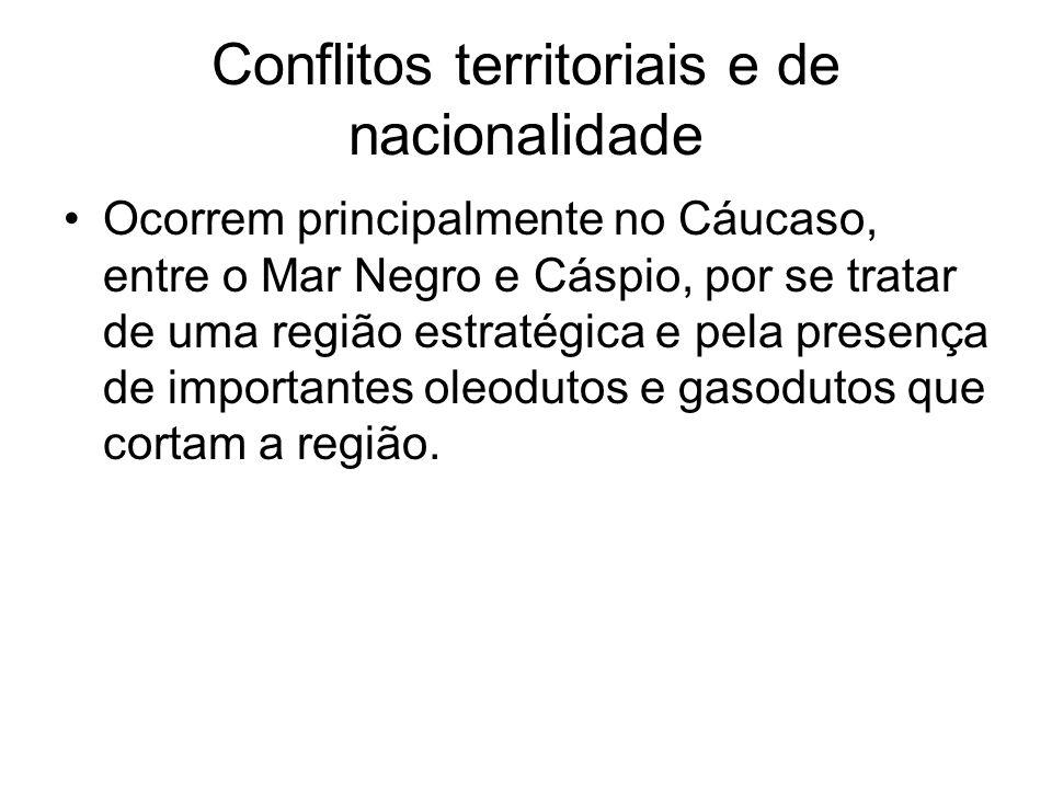 Conflitos territoriais e de nacionalidade