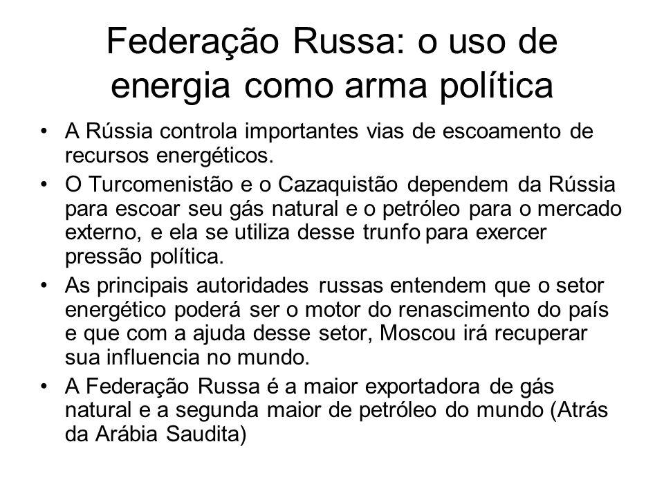 Federação Russa: o uso de energia como arma política