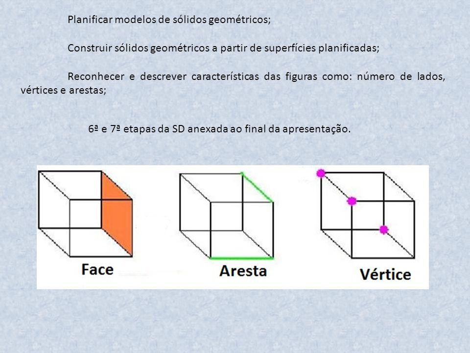 Planificar modelos de sólidos geométricos;
