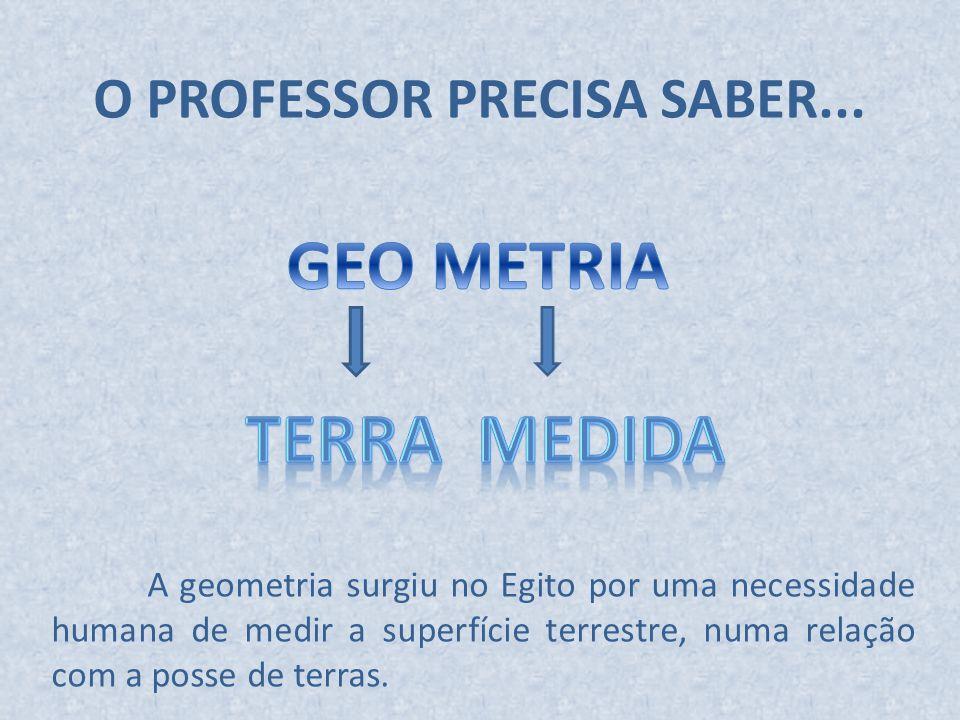 O PROFESSOR PRECISA SABER...