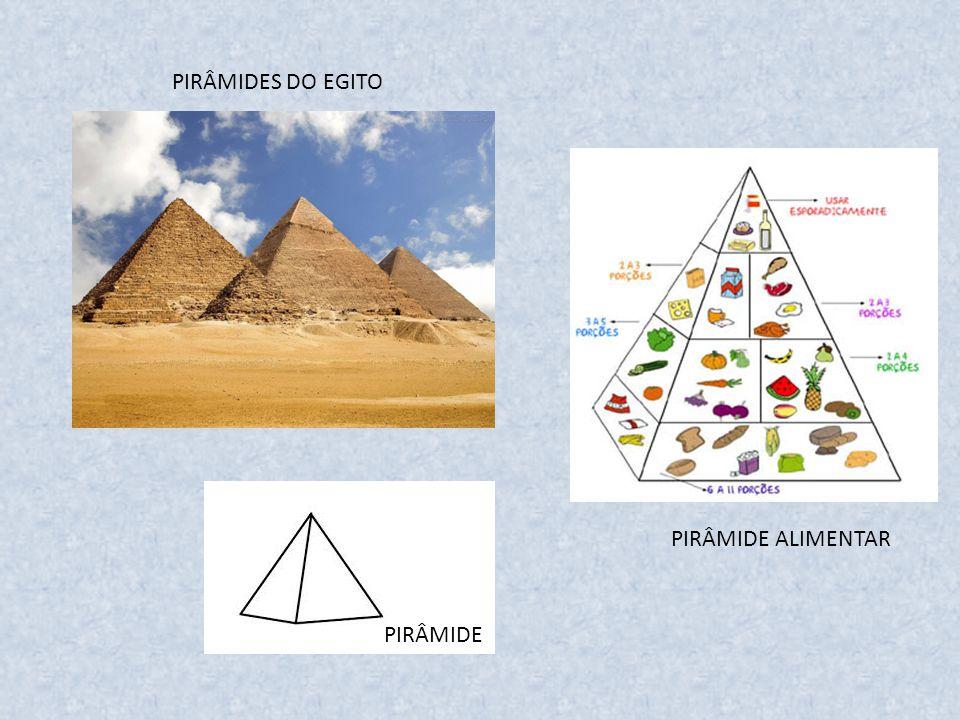 PIRÂMIDES DO EGITO PIRÂMIDE ALIMENTAR PIRÂMIDE