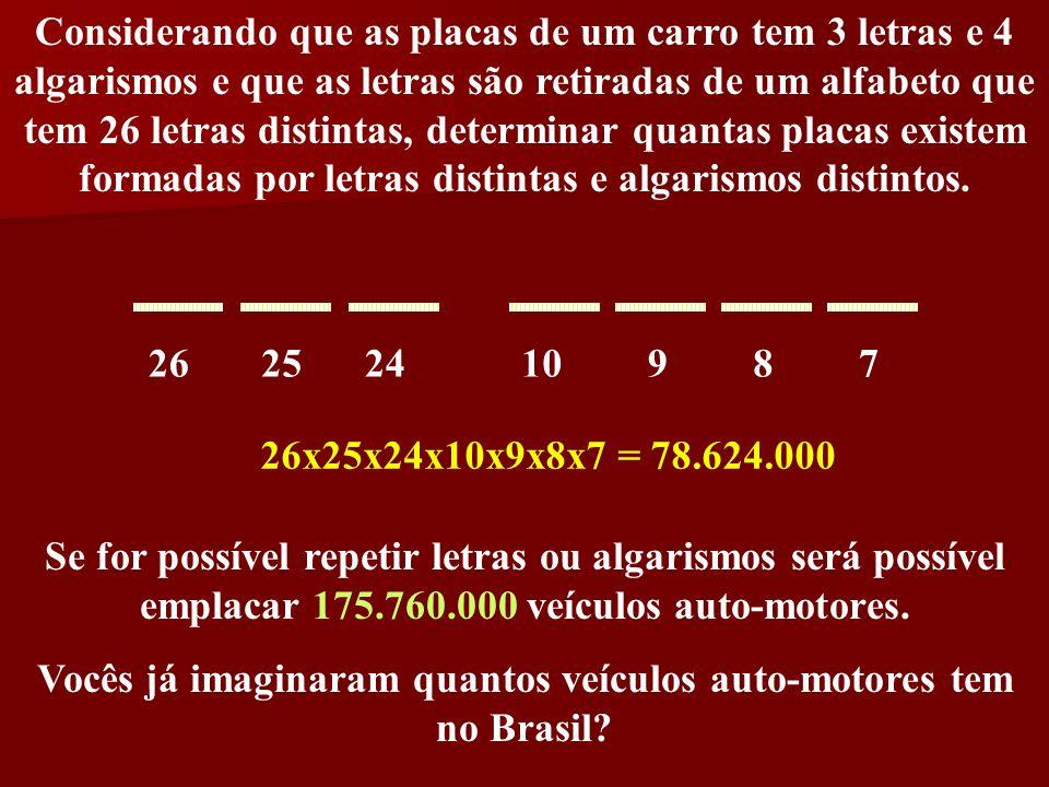 Vocês já imaginaram quantos veículos auto-motores tem no Brasil
