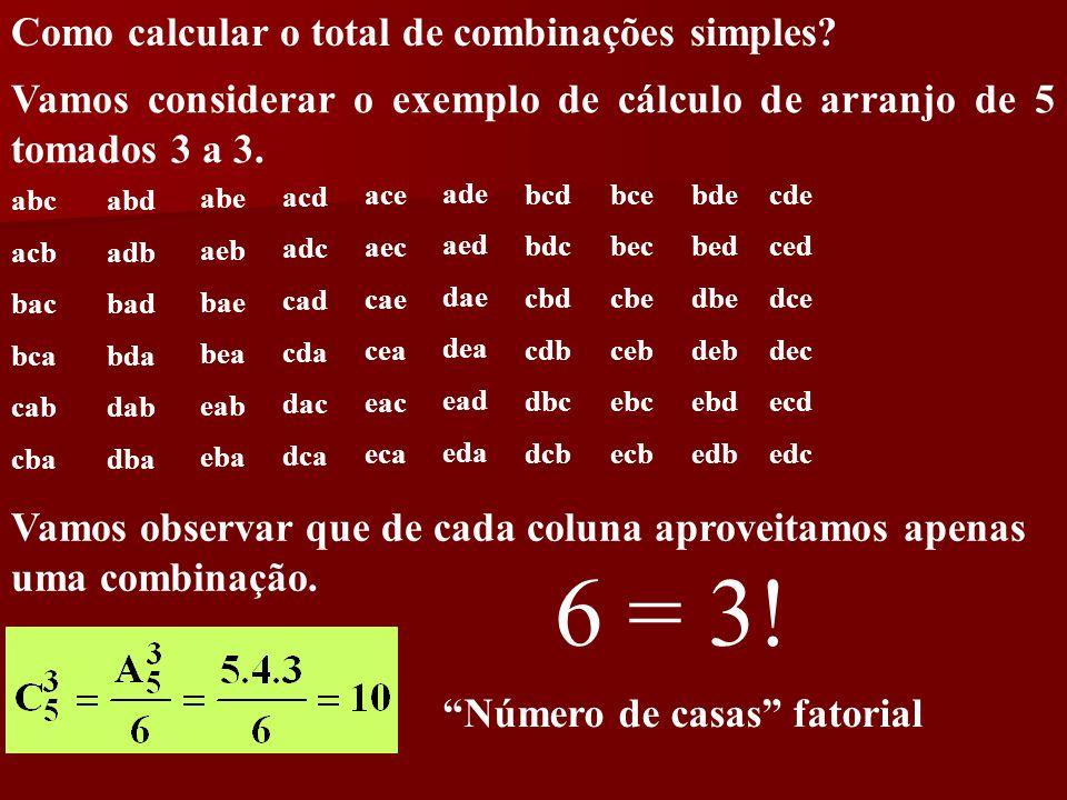 Número de casas fatorial