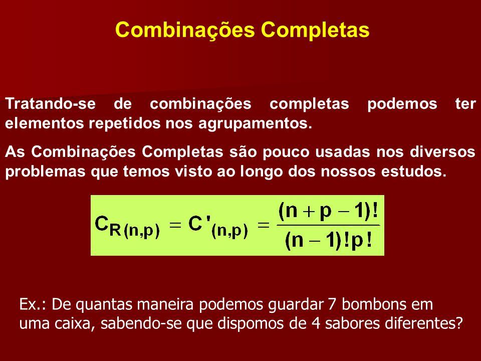 Combinações Completas