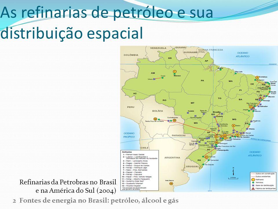 As refinarias de petróleo e sua distribuição espacial