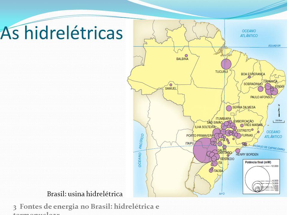 As hidrelétricas no Brasil