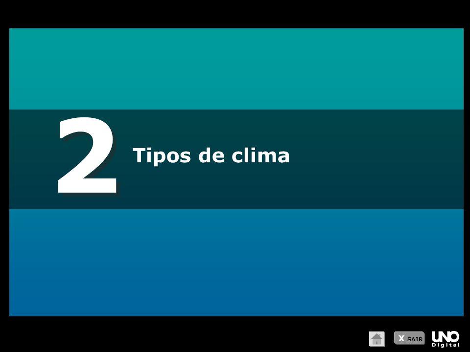 2 Tipos de clima X SAIR