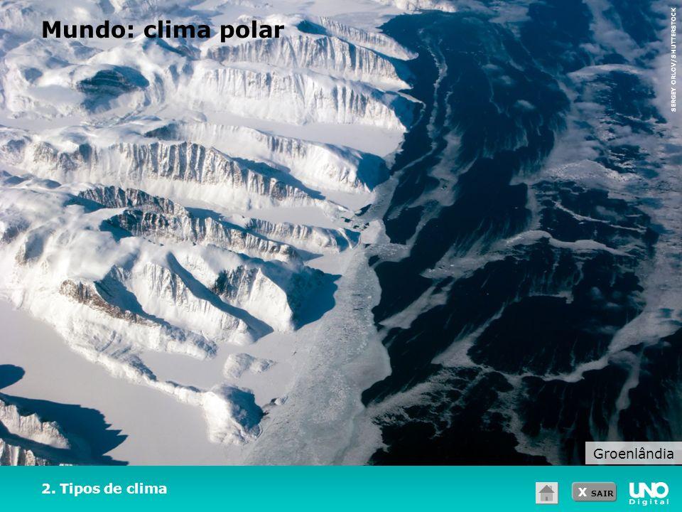 Mundo: clima polar Groenlândia 2. Tipos de clima