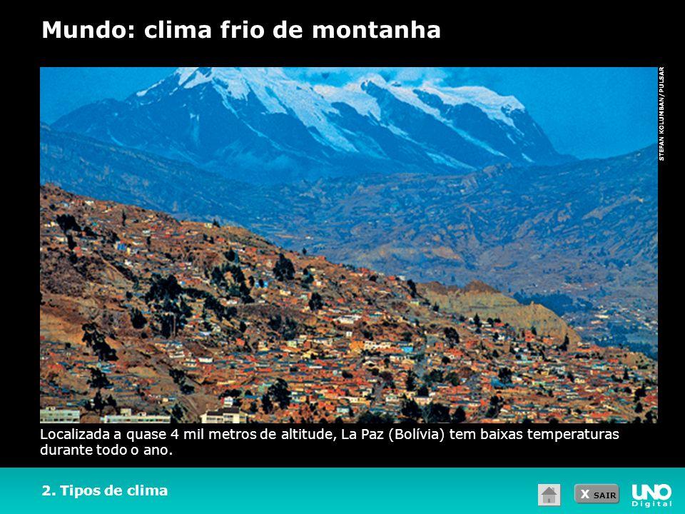 Mundo: clima frio de montanha