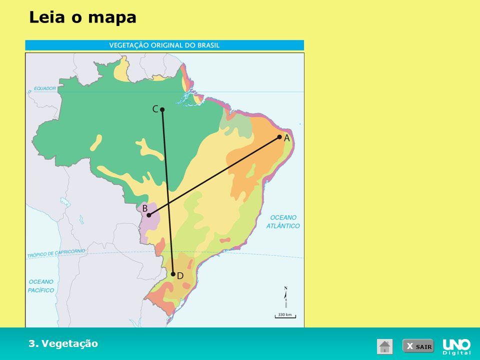 Leia o mapa Professor: peça aos alunos que observem a imagem e respondam às questões de 1 a 3.