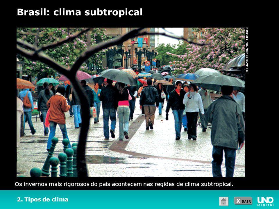 Brasil: clima subtropical
