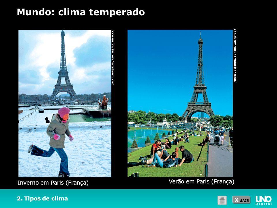 Mundo: clima temperado